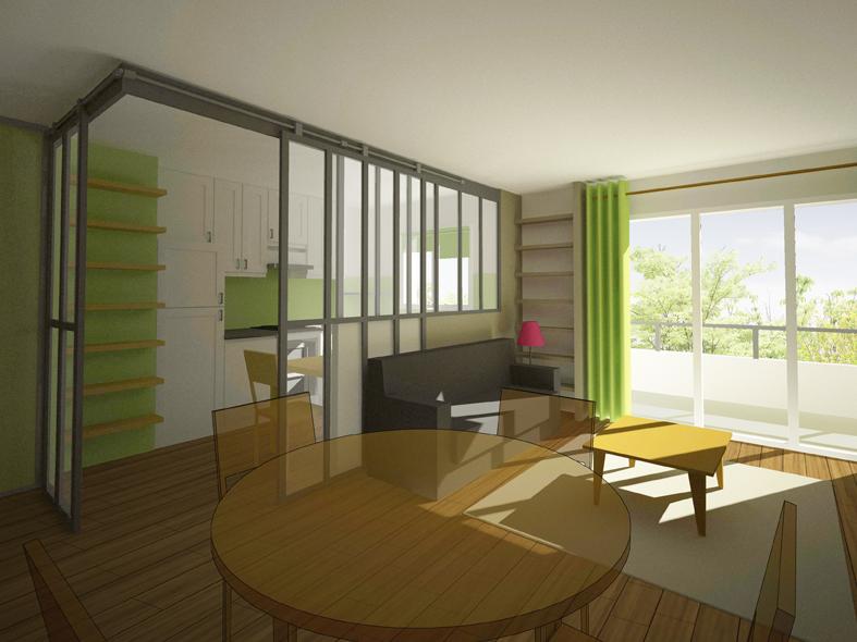 Aménagement intérieur d\'un séjour d\'un appartement à Sannois (95 ...