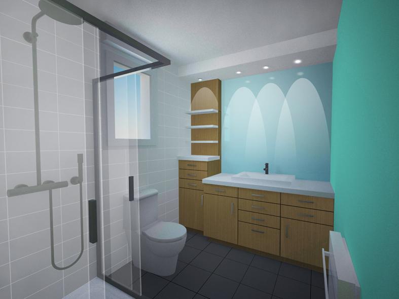 Réaménagement intérieur d\'une salle de bain (53) - Atelier Potentiel ...