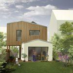 Surélévation et aménagement intérieur d'une maison de bourg au Pellerin (44)